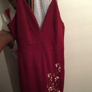 Red v-neck Privy dress - Medium size